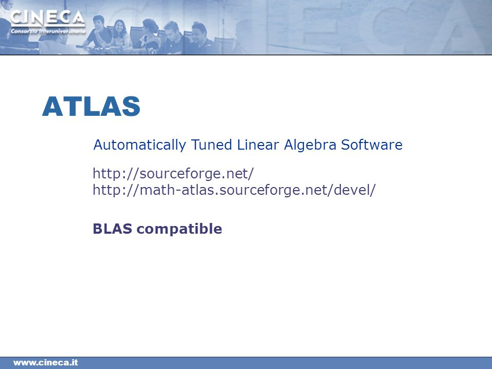ATLAS BLAS compatible Automatically Tuned Linear Algebra Software