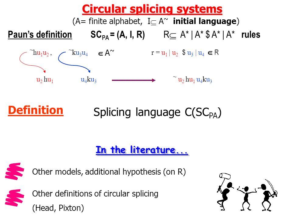 Il nostro approccio... Linguaggi Circolari Linguaggi Formali chiusi sotto coniugazione Regolari