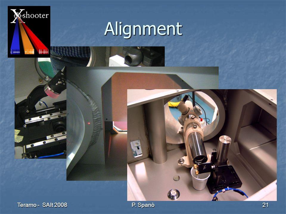 Teramo - SAIt 2008 P. Spanò 21 Alignment