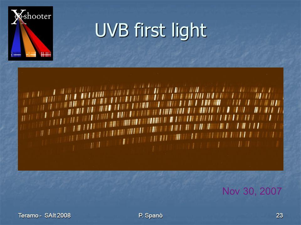 Teramo - SAIt 2008 P. Spanò 23 UVB first light Nov 30, 2007