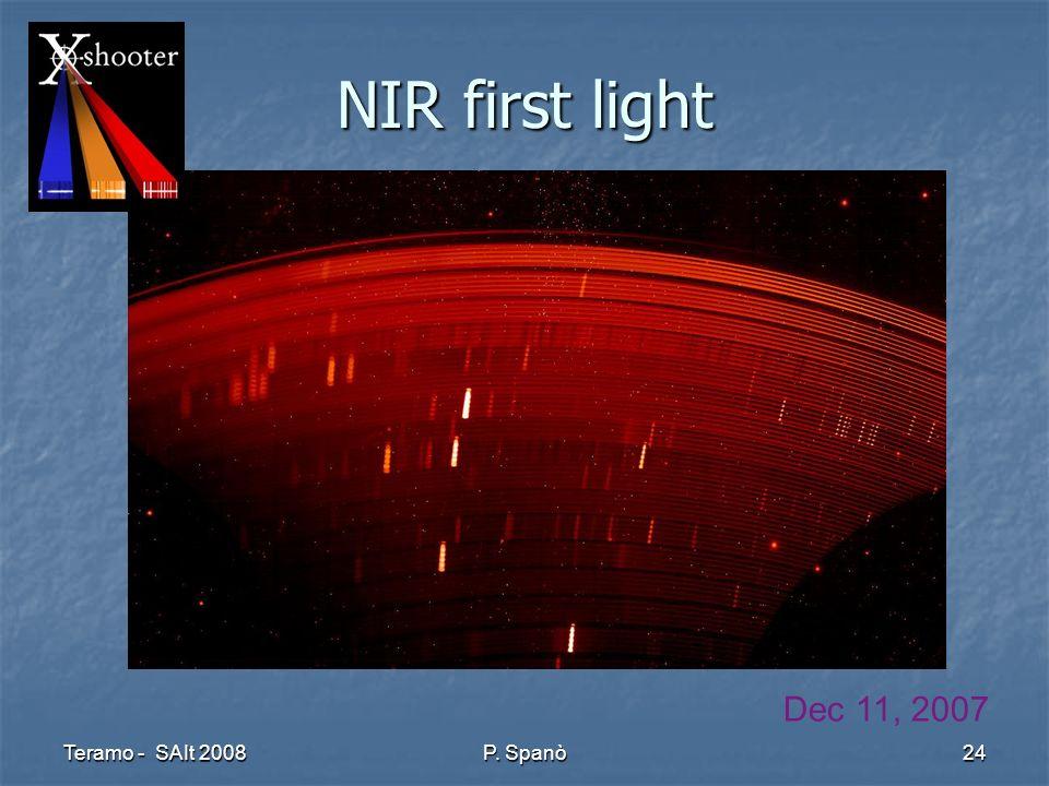 Teramo - SAIt 2008 P. Spanò 24 NIR first light Dec 11, 2007