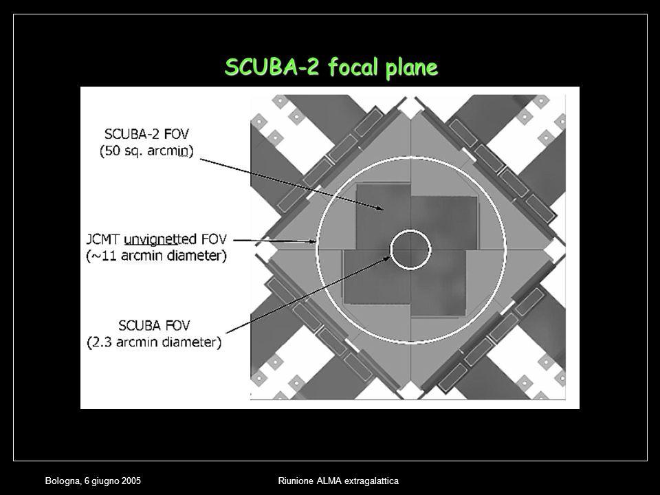 Bologna, 6 giugno 2005Riunione ALMA extragalattica SCUBA-2 focal plane