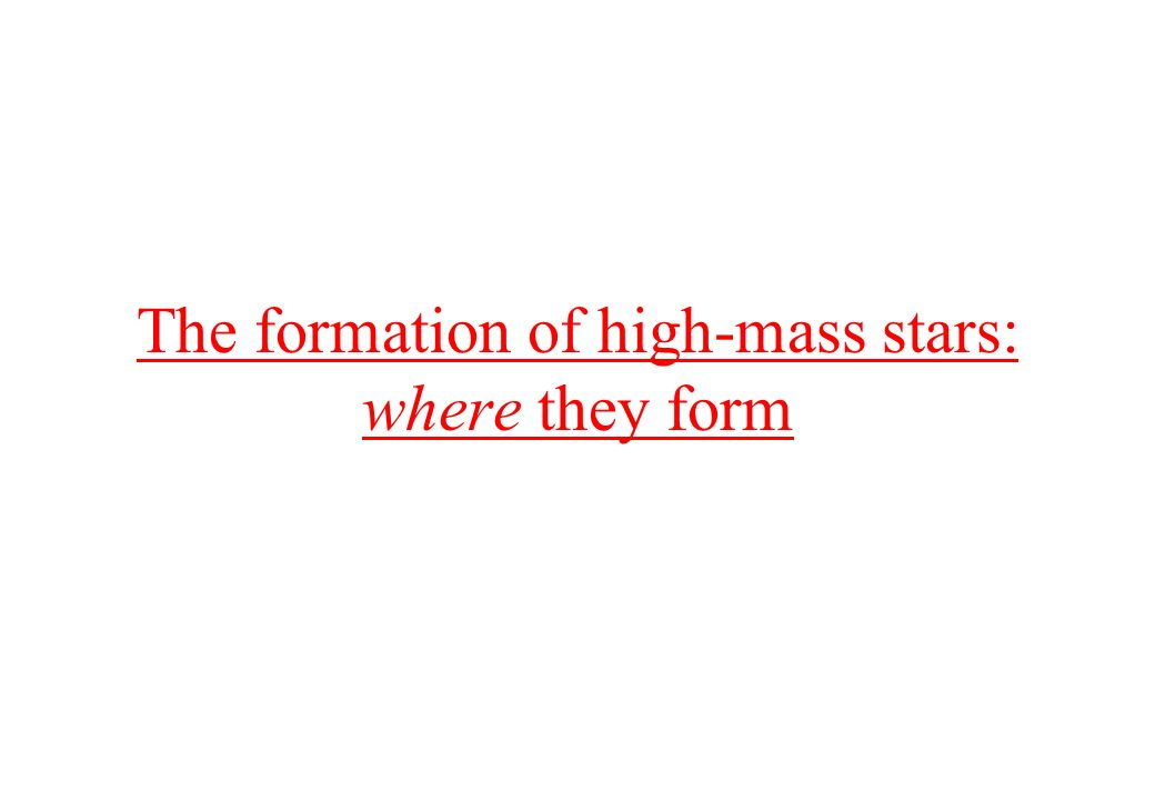 The formation of high-mass stars: where they form