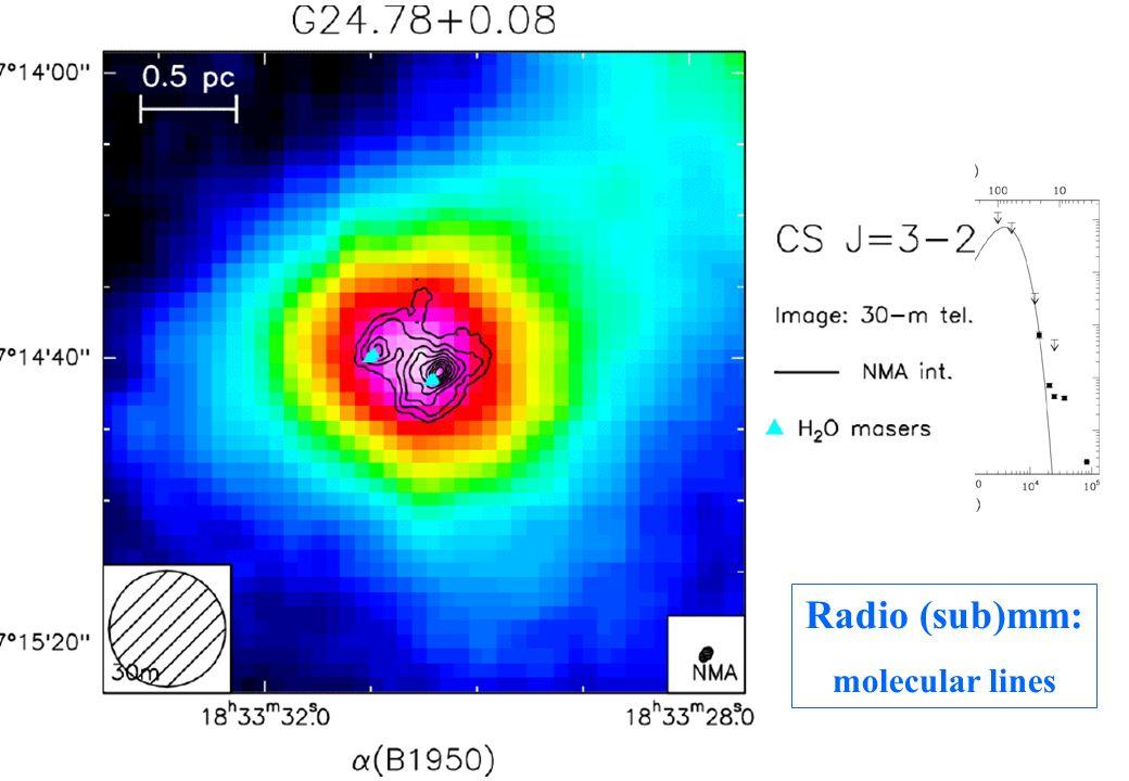 Radio (sub)mm: molecular lines