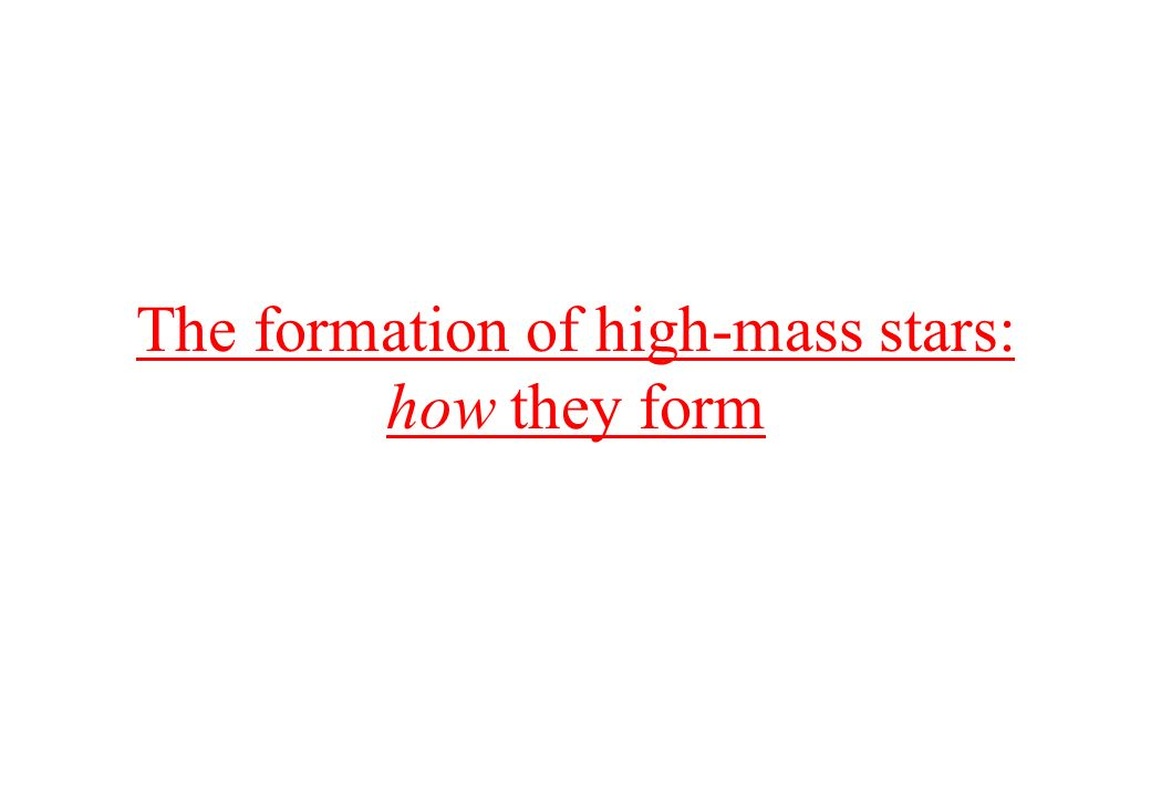 The formation of high-mass stars: how they form