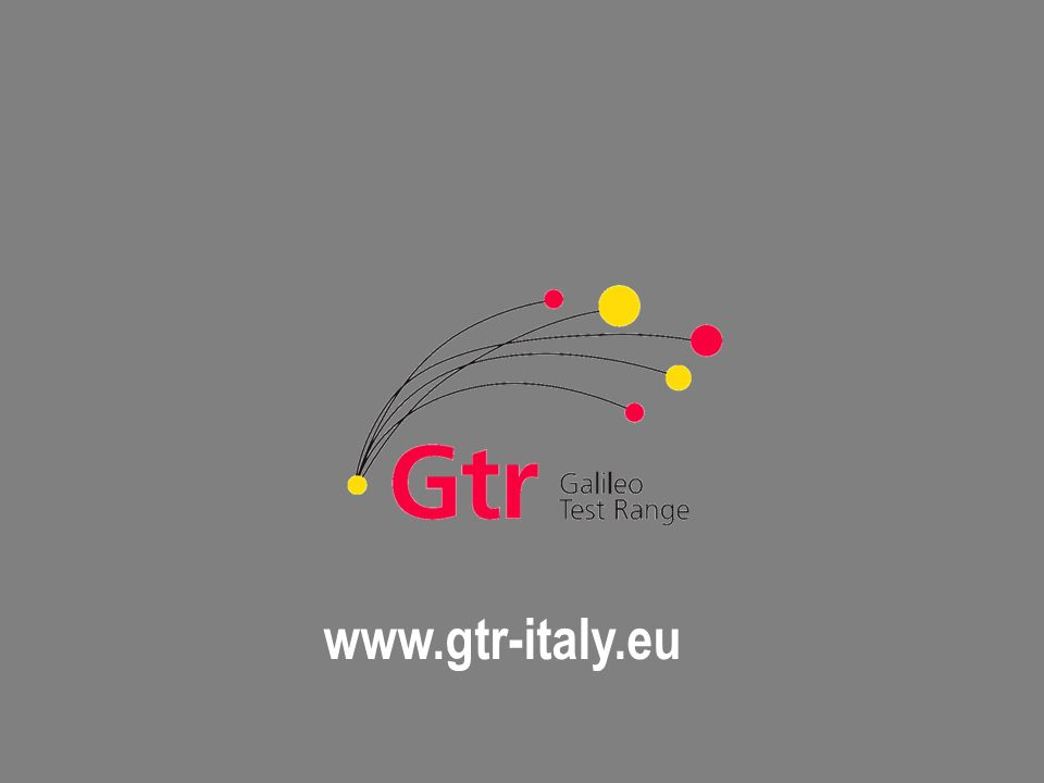 All rights reserved © 2007, Telespazio www.gtr-italy.eu