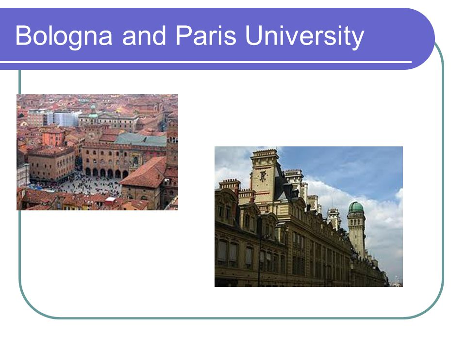 Bologna and Paris University