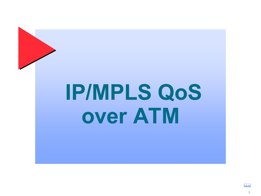 1 IP/MPLS QoS over ATM