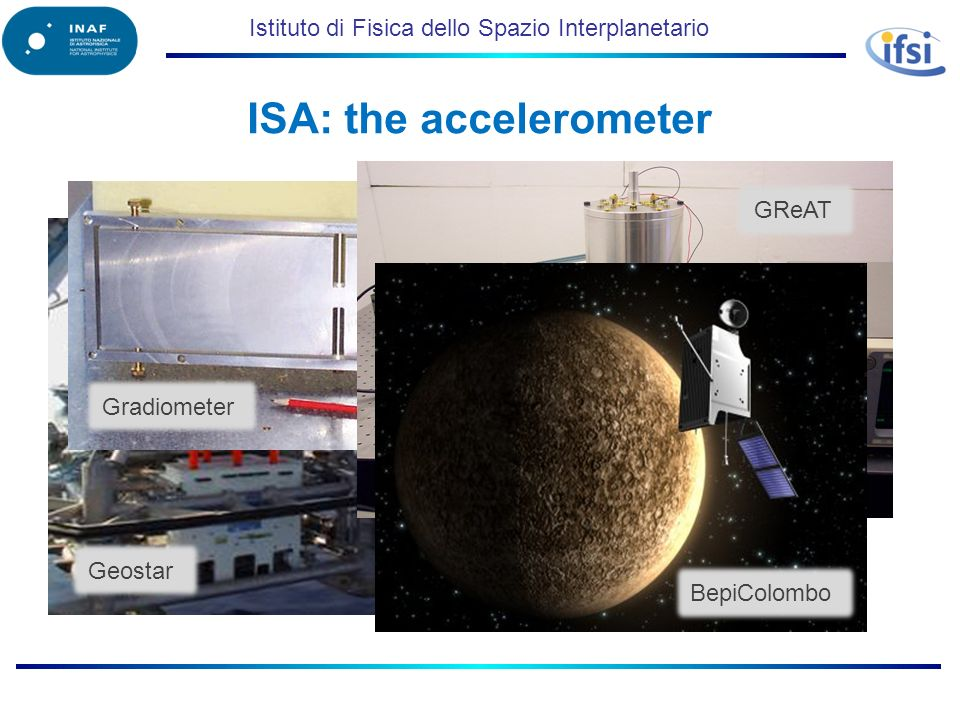 Istituto di Fisica dello Spazio Interplanetario ISA: the accelerometer Geostar Gradiometer GReAT BepiColombo