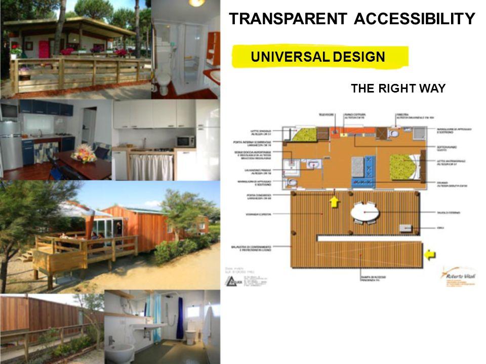 ©Proprietà testi e immagini riservata V4A – Village for all TRANSPARENT ACCESSIBILITY UNIVERSAL DESIGN THE RIGHT WAY