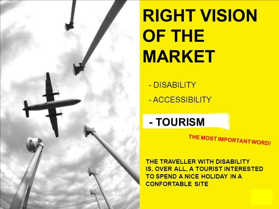 ©Proprietà testi e immagini riservata V4A – Village for all RIGHT VISION OF THE MARKET - DISABILITY - ACCESSIBILITY - TOURISM THE MOST IMPORTANT WORD!