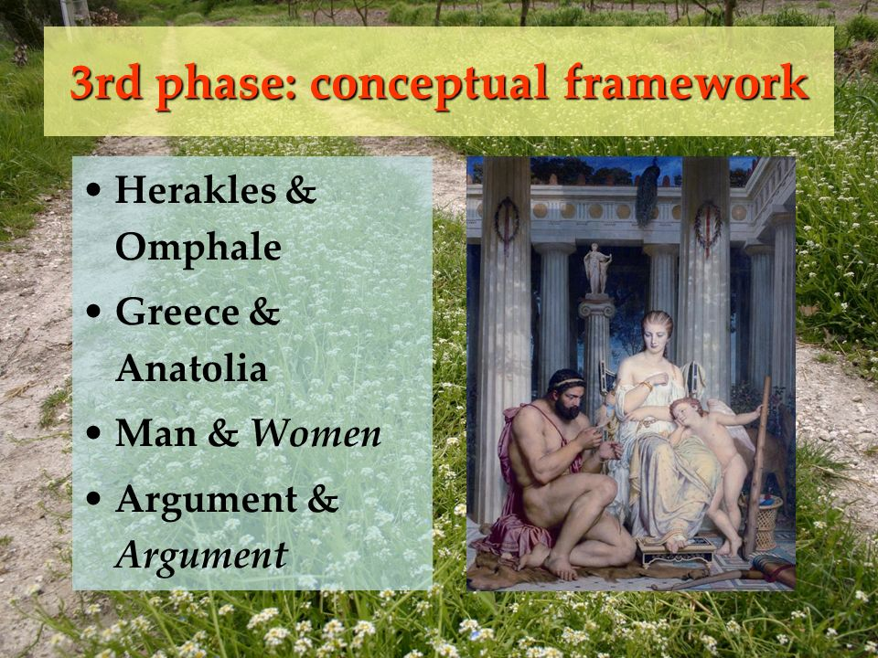 Herakles & Omphale Greece & Anatolia Man & Women Argument & Argument 3rd phase: conceptual framework