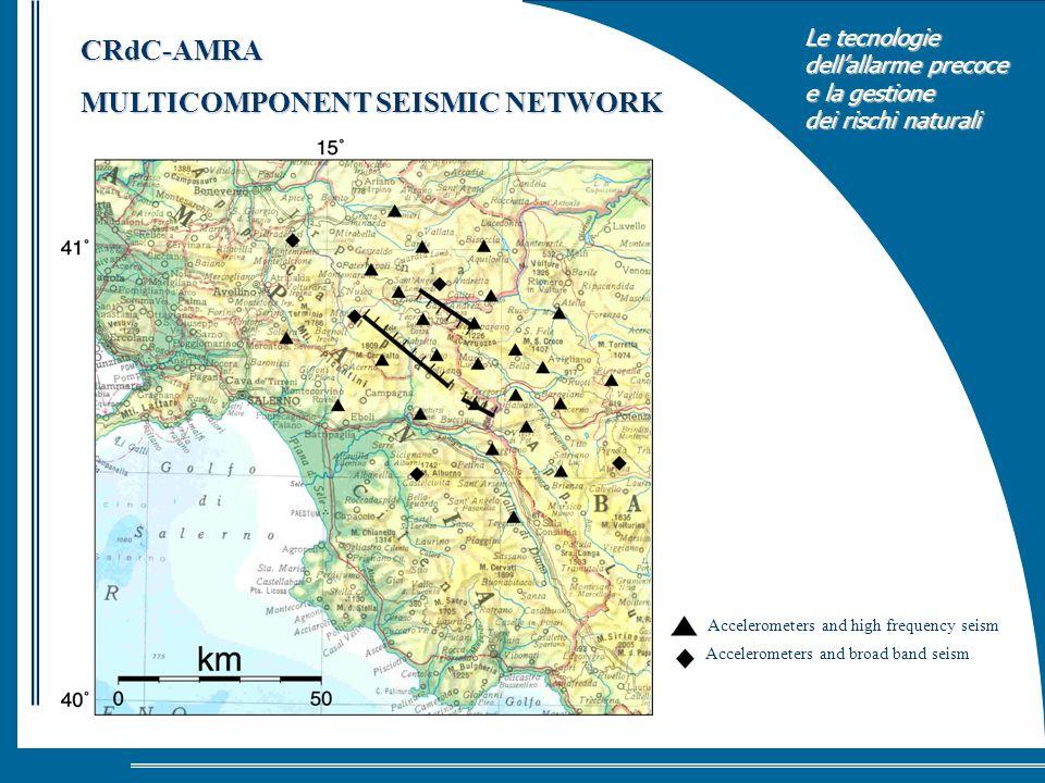 Le tecnologie dellallarme precoce e la gestione dei rischi naturali Accelerometers and high frequency seism Accelerometers and broad band seism CRdC-A