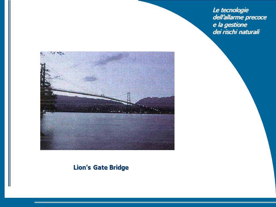 Le tecnologie dellallarme precoce e la gestione dei rischi naturali Lions Gate Bridge
