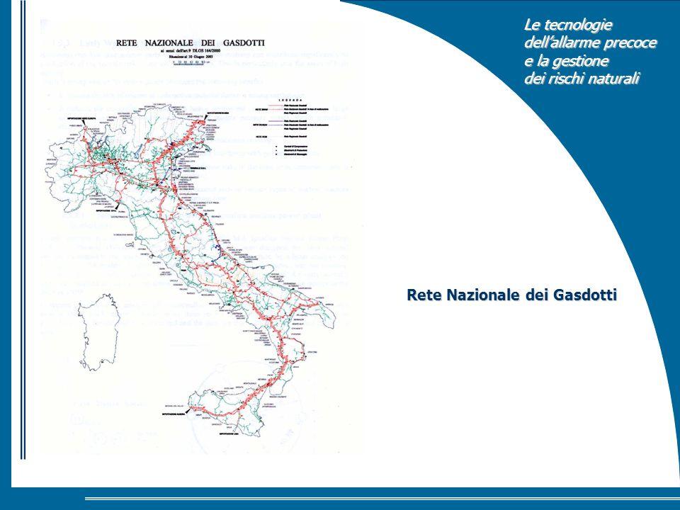 Le tecnologie dellallarme precoce e la gestione dei rischi naturali Rete Nazionale dei Gasdotti