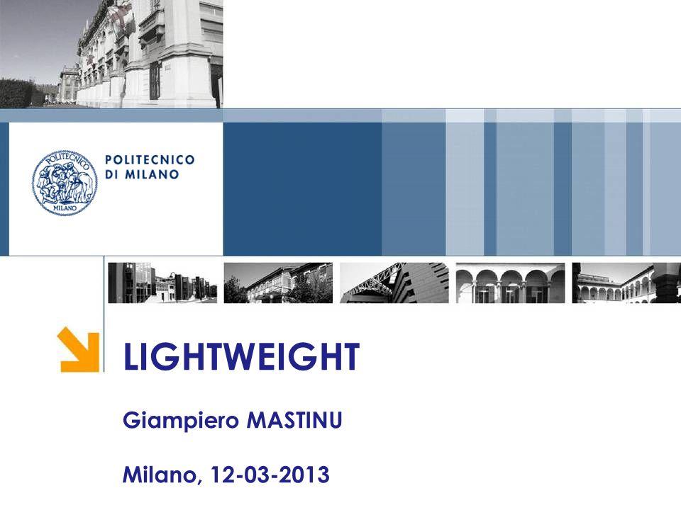 LIGHTWEIGHT Giampiero MASTINU Milano, 12-03-2013