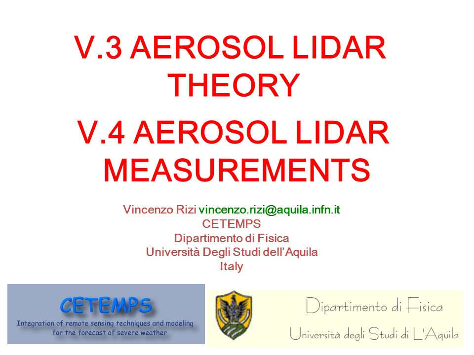 Some exercises with LIdar SIgnal SImulator N2N2 air