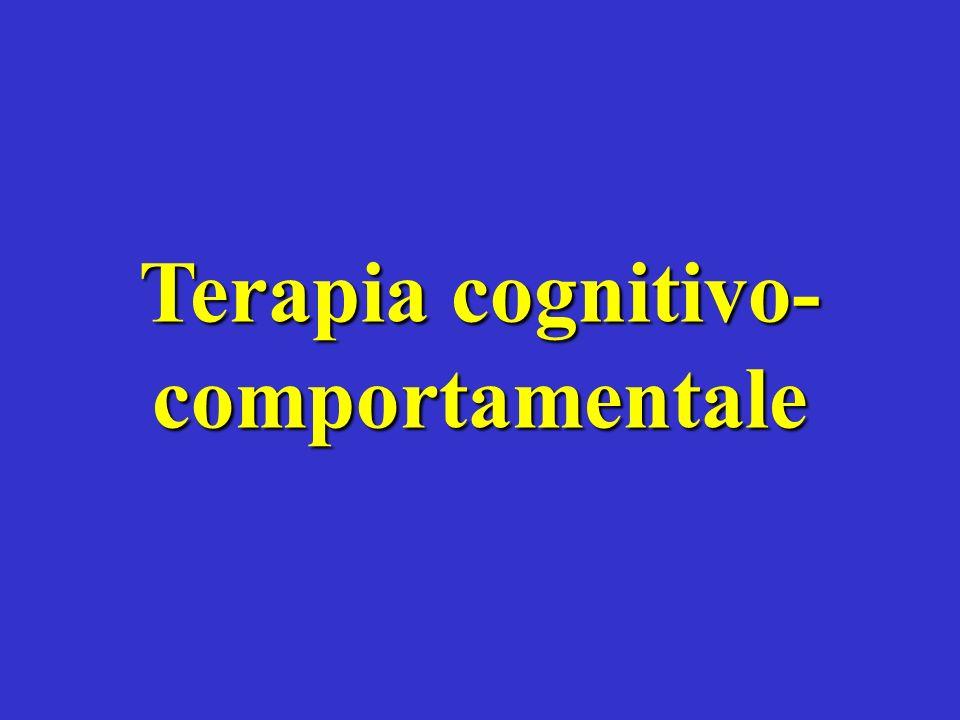 Terapia cognitivo- comportamentale