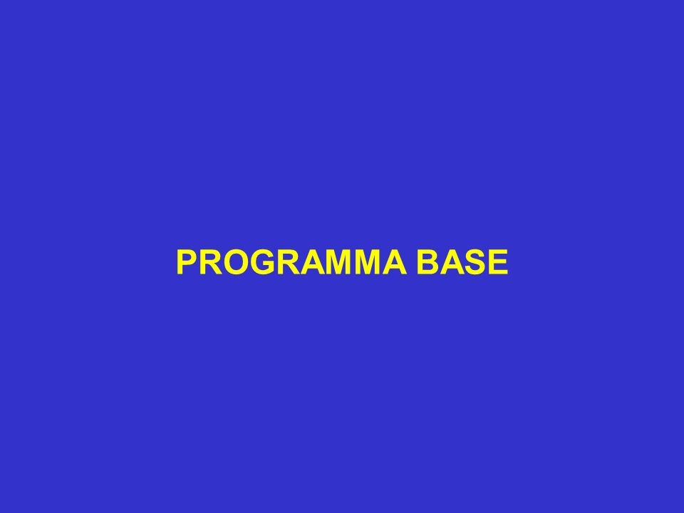 PROGRAMMA BASE