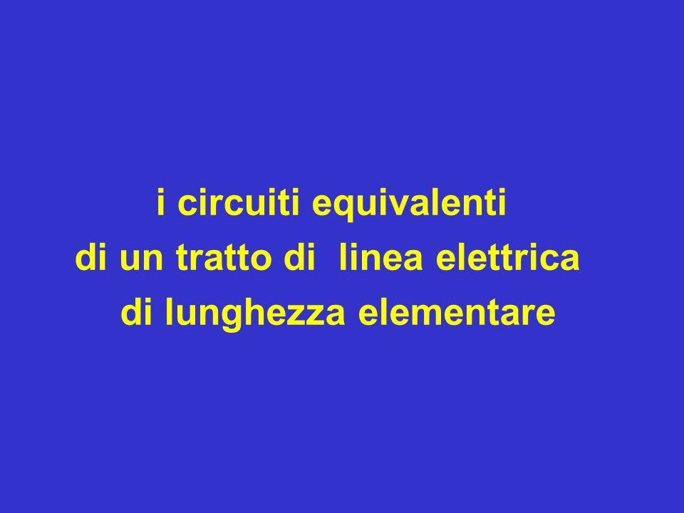 i circuiti equivalenti di un tratto di linea elettrica di lunghezza elementare