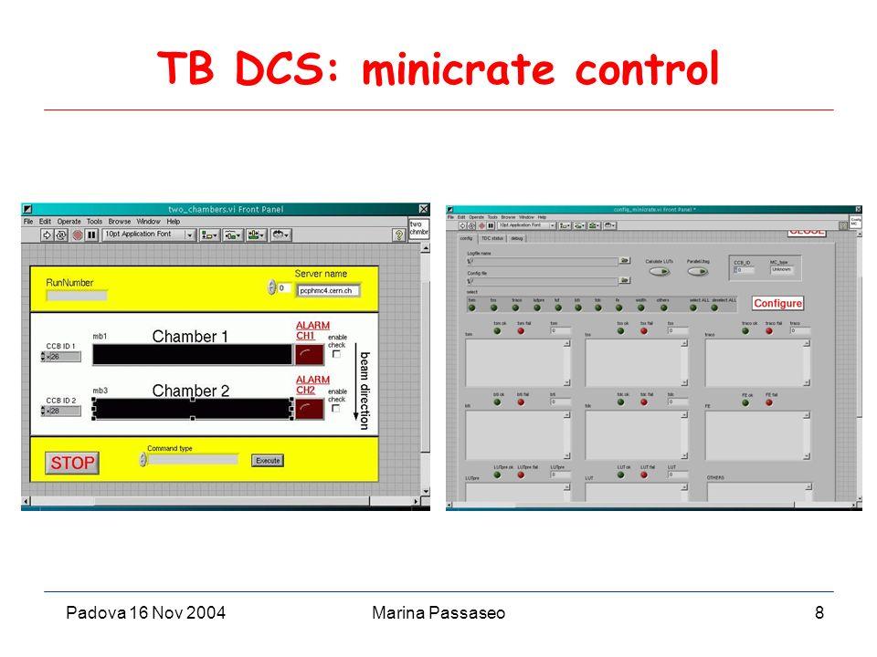 Padova 16 Nov 2004Marina Passaseo8 TB DCS: minicrate control