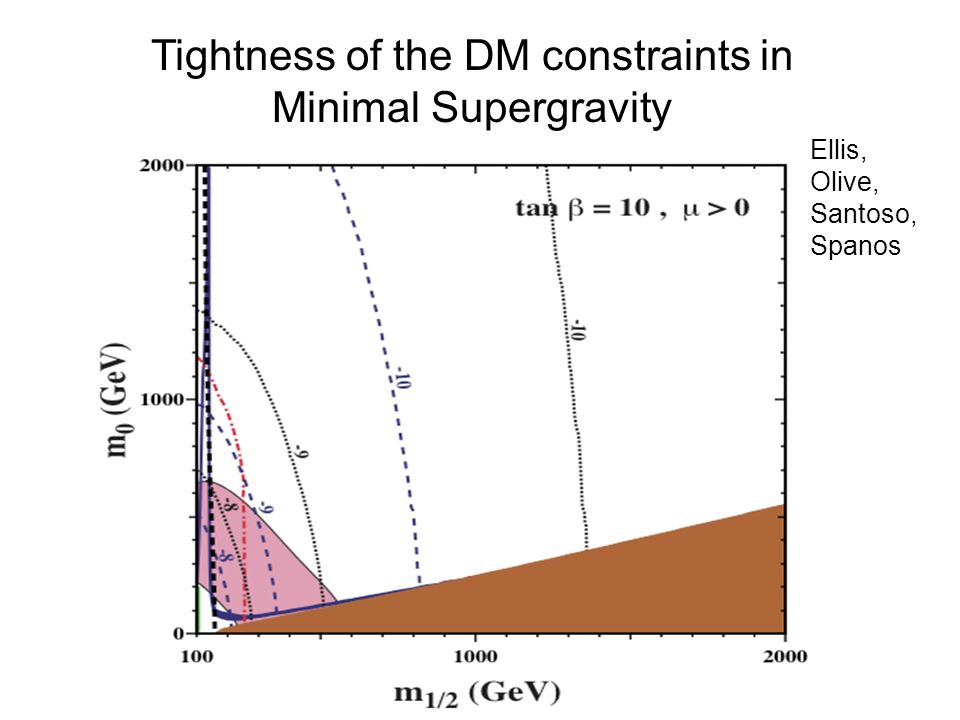 Tightness of the DM constraints in Minimal Supergravity Ellis, Olive, Santoso, Spanos