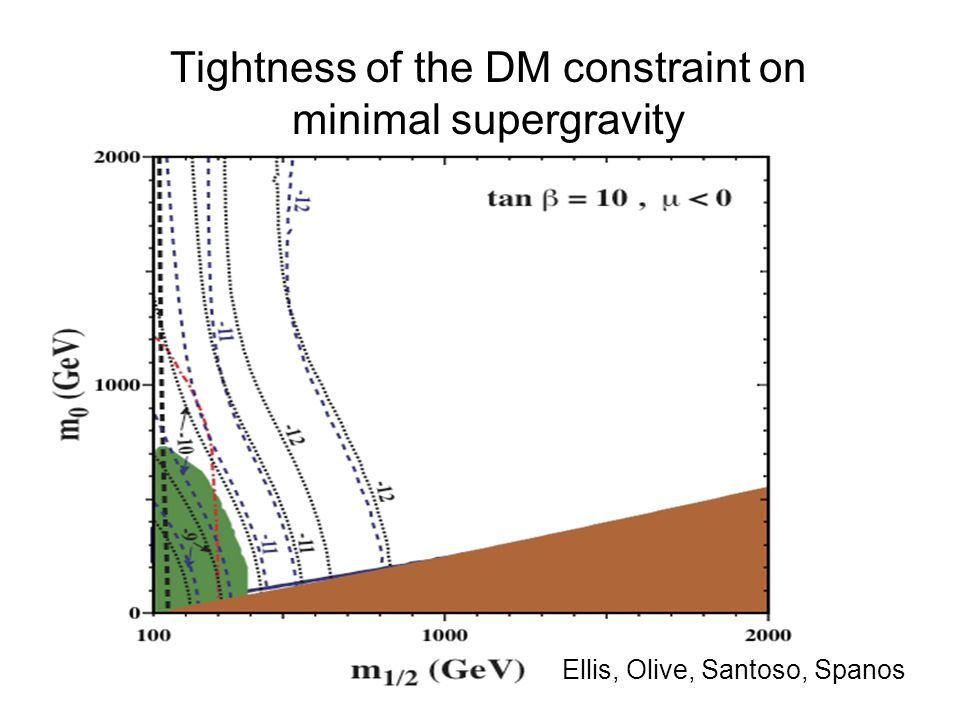 Tightness of the DM constraint on minimal supergravity Ellis, Olive, Santoso, Spanos