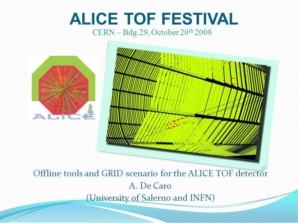 ALICE TOF FESTIVAL Offline tools and GRID scenario for the ALICE TOF detector A.