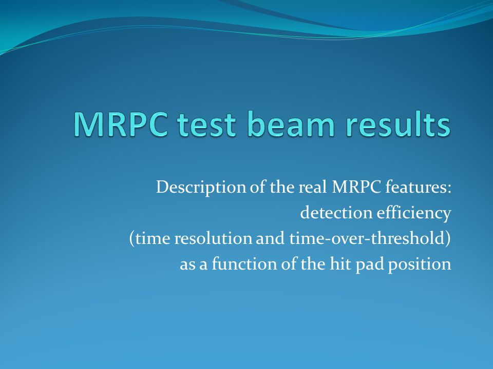 Description of the real MRPC features: detection efficiency (time resolution and time-over-threshold) as a function of the hit pad position