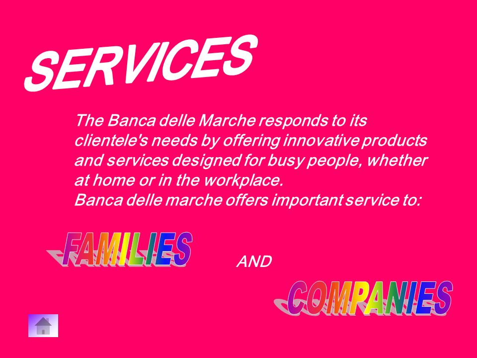 Banca delle Marche derives its success from its commitment both towards its clientele and towards local society, sports and culture.