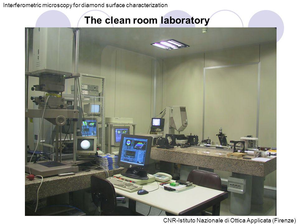 CNR-Istituto Nazionale di Ottica Applicata (Firenze) The clean room laboratory Interferometric microscopy for diamond surface characterization
