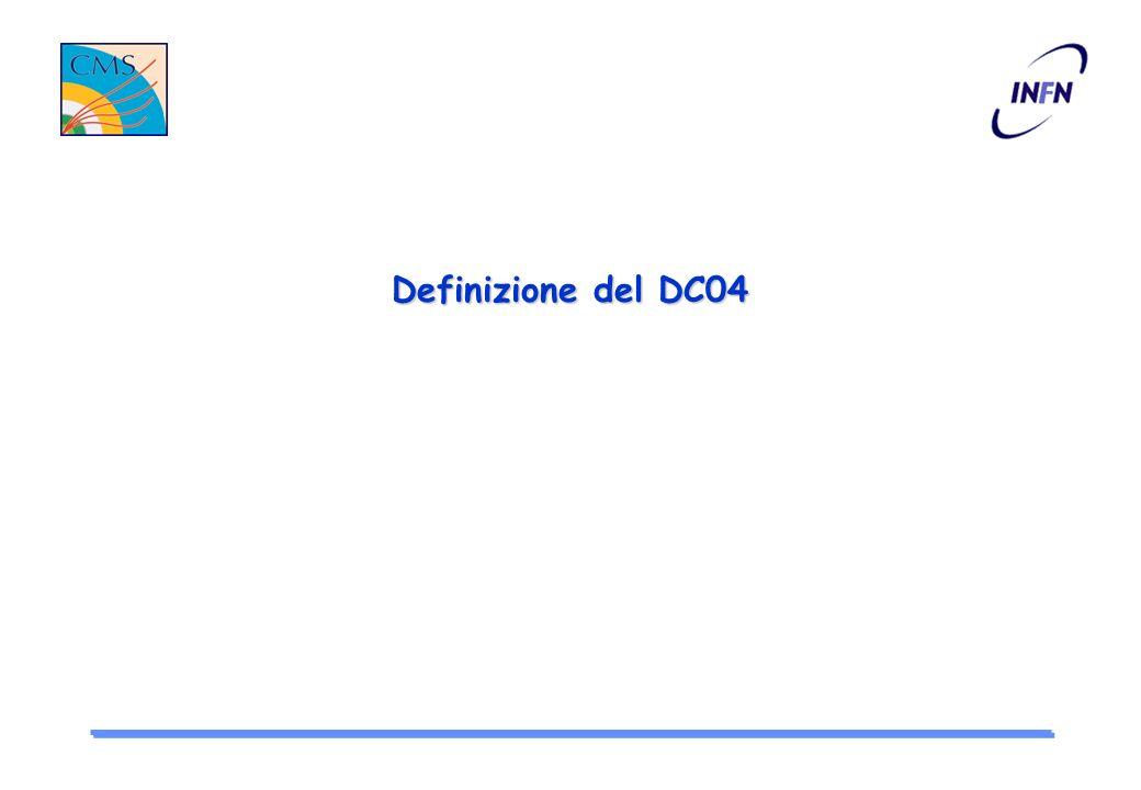 Definizione del DC04 Attivita di simulazione e ricostruzione per il DC04 Stato di Famos Passaggio da Objectivity a Root Lucia Silvestris INFN-Bari