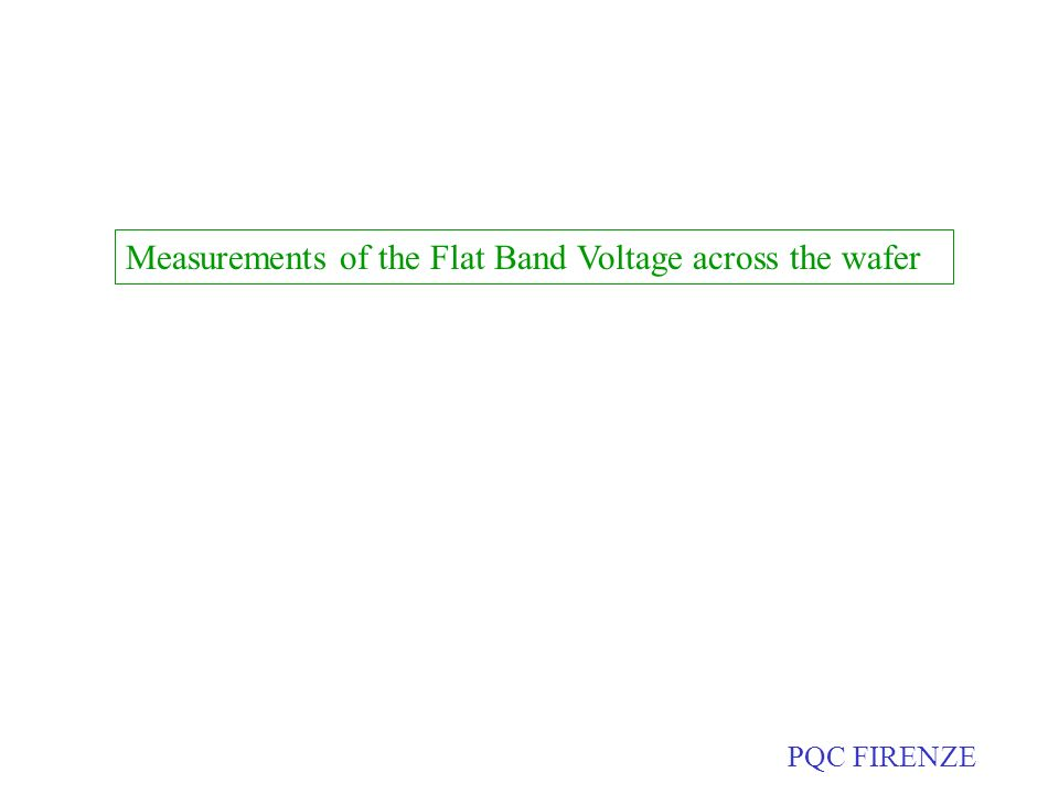 Measurements of the Flat Band Voltage across the wafer PQC FIRENZE
