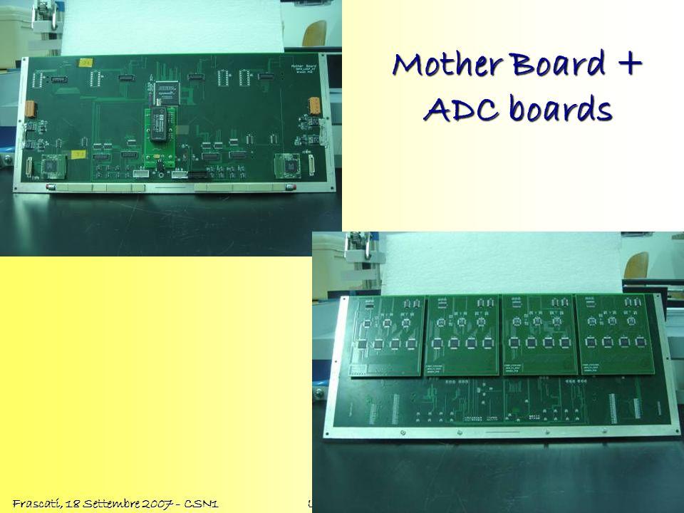 Oscar Adriani Frascati, 18 Settembre 2007 - CSN1 LHCf Status Report Mother Board + ADC boards