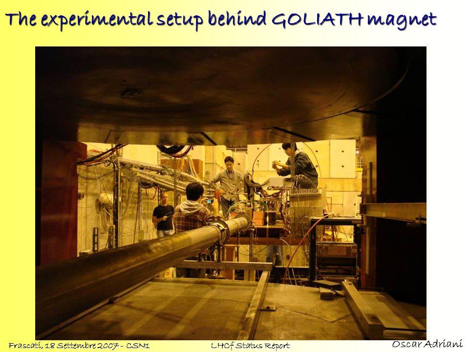 Oscar Adriani Frascati, 18 Settembre 2007 - CSN1 LHCf Status Report The experimental setup behind GOLIATH magnet