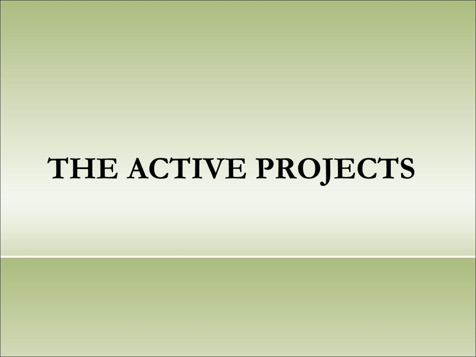 THE ACTIVE PROJECTS