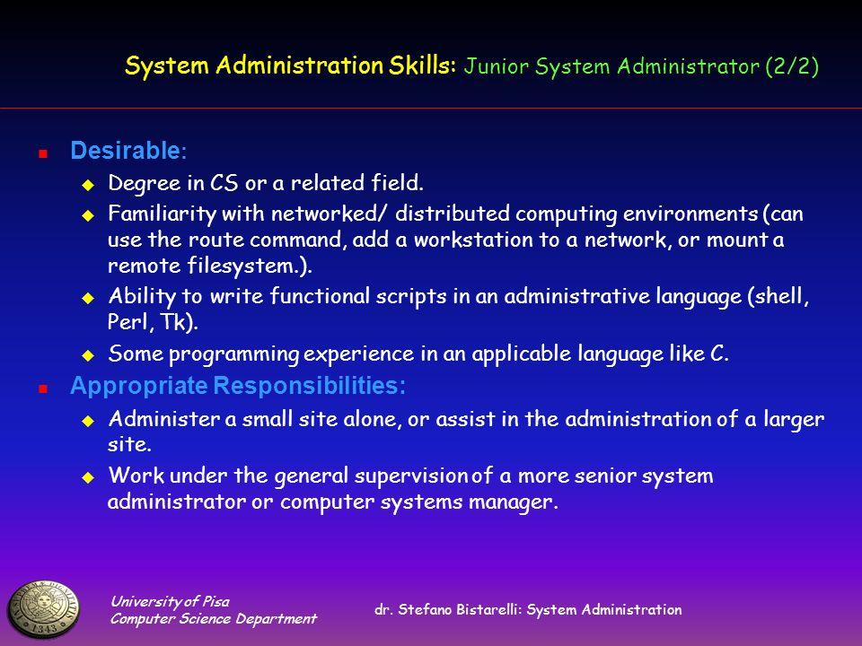 University of Pisa Computer Science Department dr.