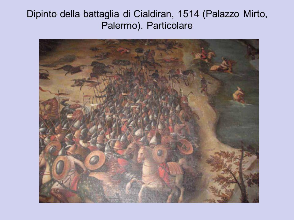 Dipinto della battaglia di Cialdiran, 1514 (Palazzo Mirto, Palermo). Particolare