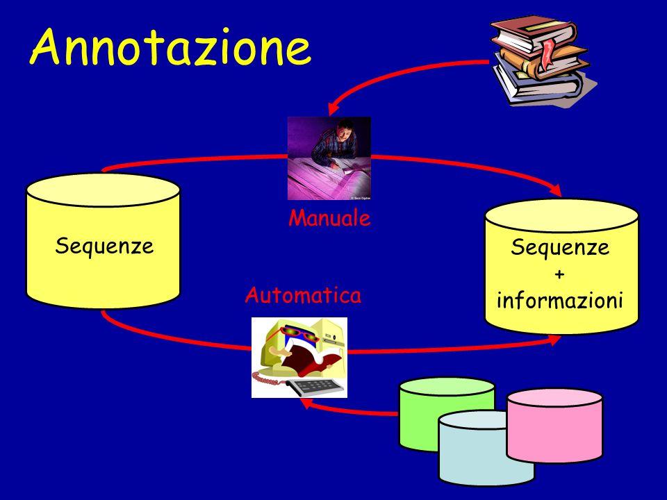 Annotazione Sequenze + informazioni Manuale Automatica