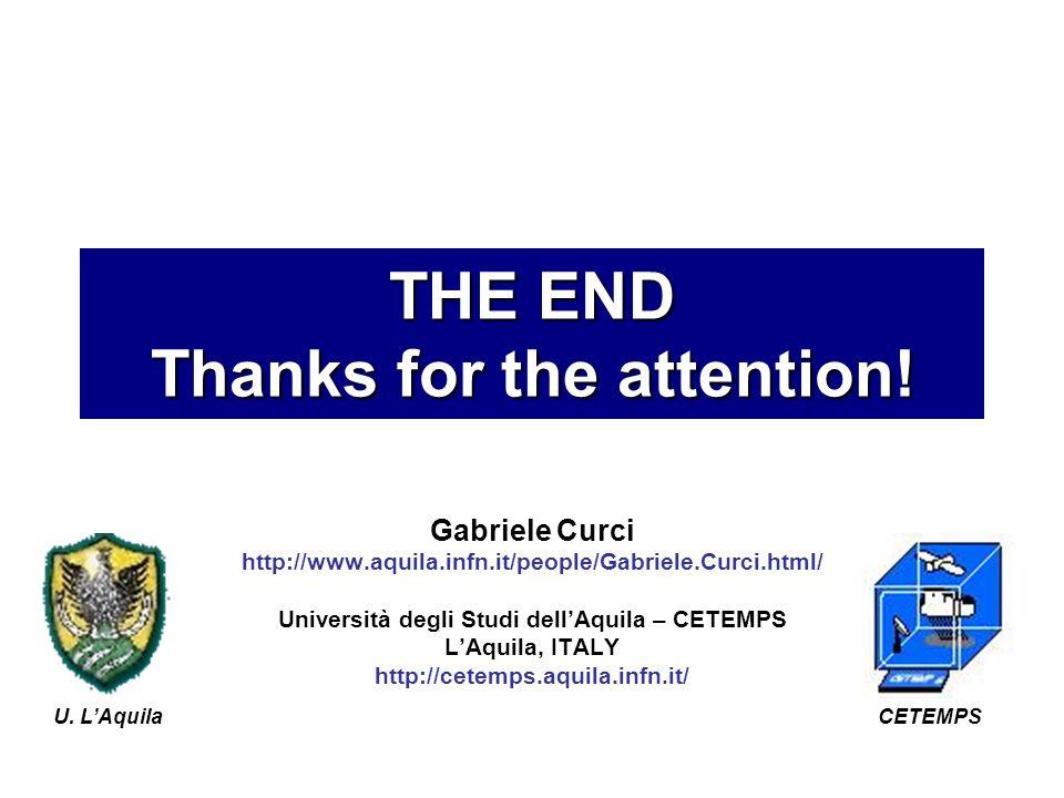 Gabriele Curci http://www.aquila.infn.it/people/Gabriele.Curci.html/ Università degli Studi dellAquila – CETEMPS LAquila, ITALY http://cetemps.aquila.