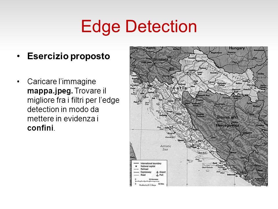 Edge Detection Esercizio proposto Caricare limmagine mappa.jpeg.
