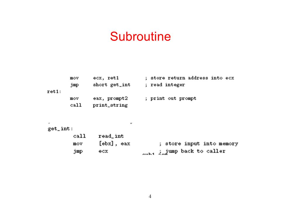 4 Subroutine