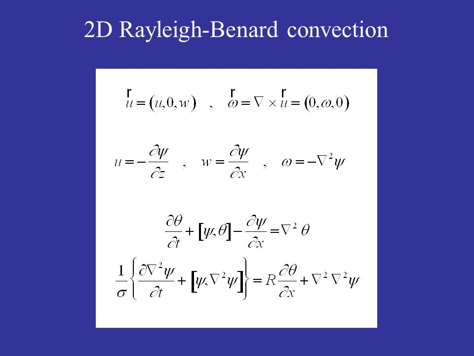 2D Rayleigh-Benard convection