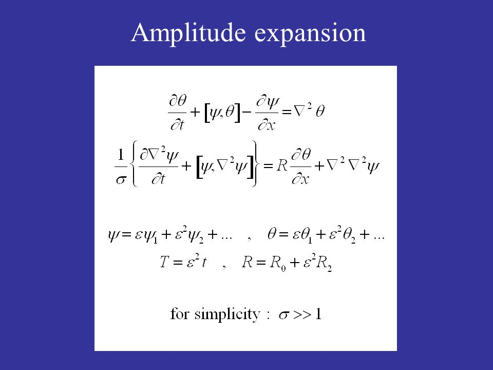 Amplitude expansion