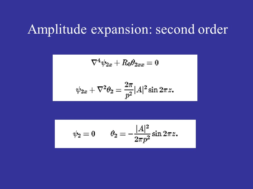 Amplitude expansion: second order