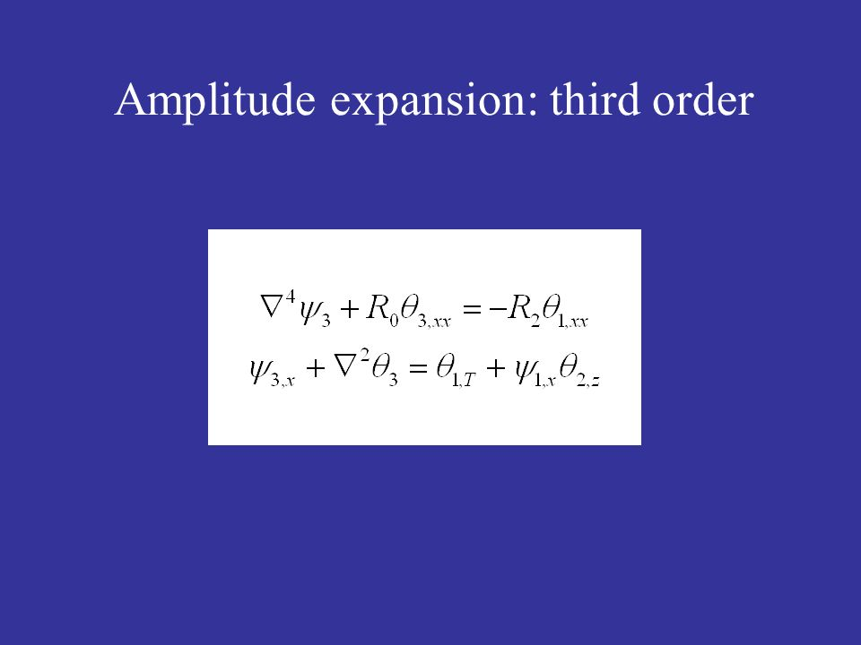 Amplitude expansion: third order