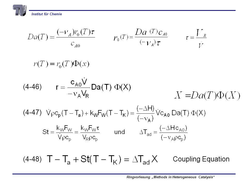 Institut für Chemie Ringvorlesung Methods in Heterogeneous Catalysis (4-46) (4-47) (4-48) Coupling Equation