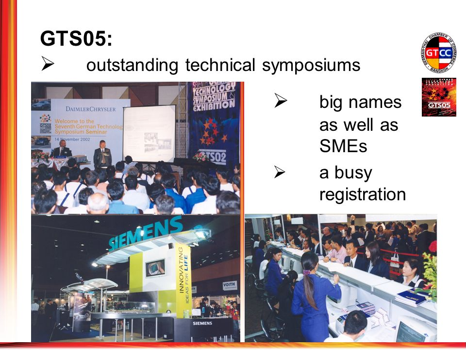 GTS05: outstanding technical symposiums big names as well as SMEs a busy registration