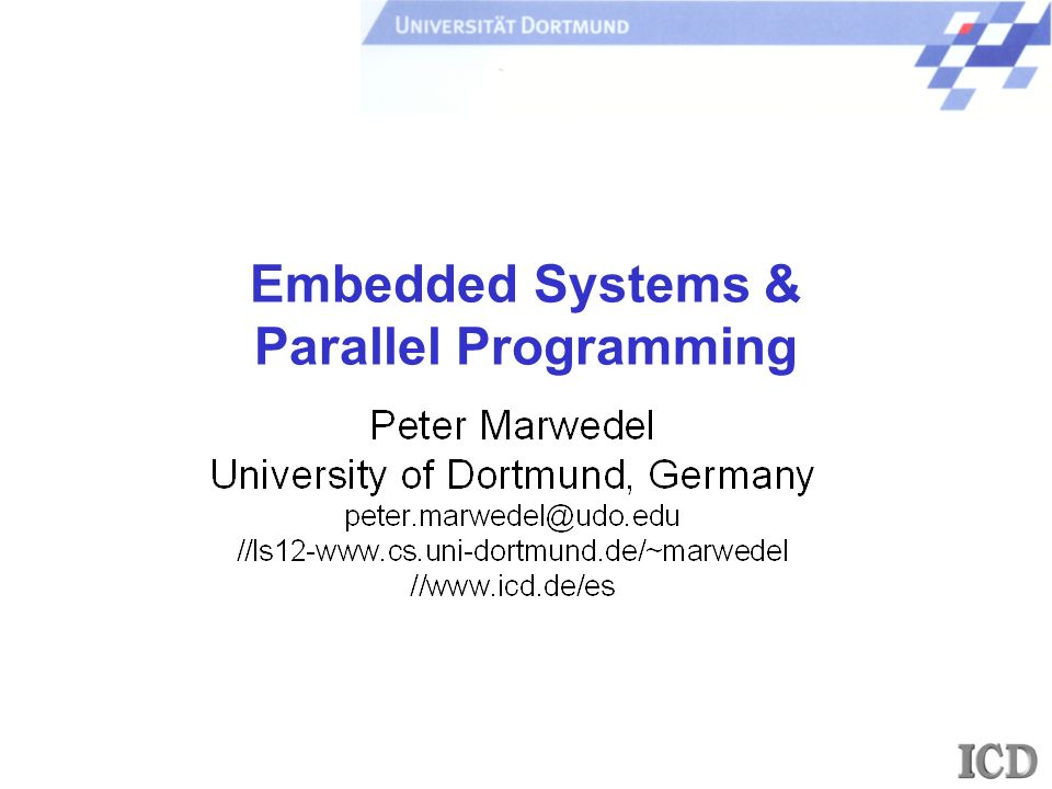 Embedded Systems & Parallel Programming
