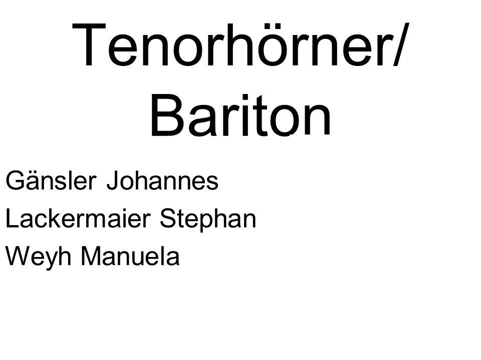 Tenorhörner/ Bariton Gänsler Johannes Lackermaier Stephan Weyh Manuela